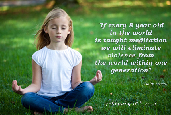 Child meditation with date
